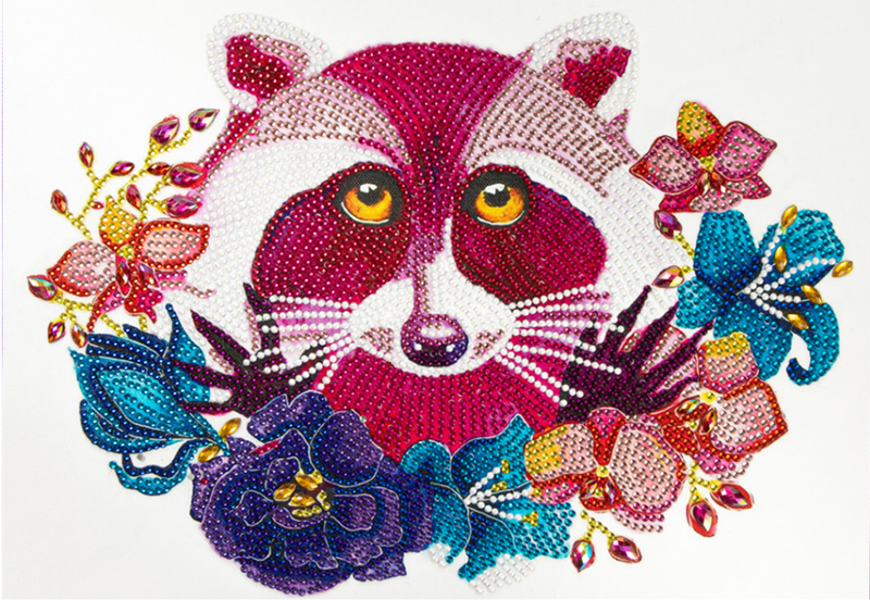 "9/21: Raccoon (Partial) 9.5""x11.5"" (#327)"