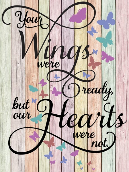 """DEAL OF THE DAY PREORDER (@6-8 weeks to arrive) Wings Ready Colorful 24x32"""" (#2)"""