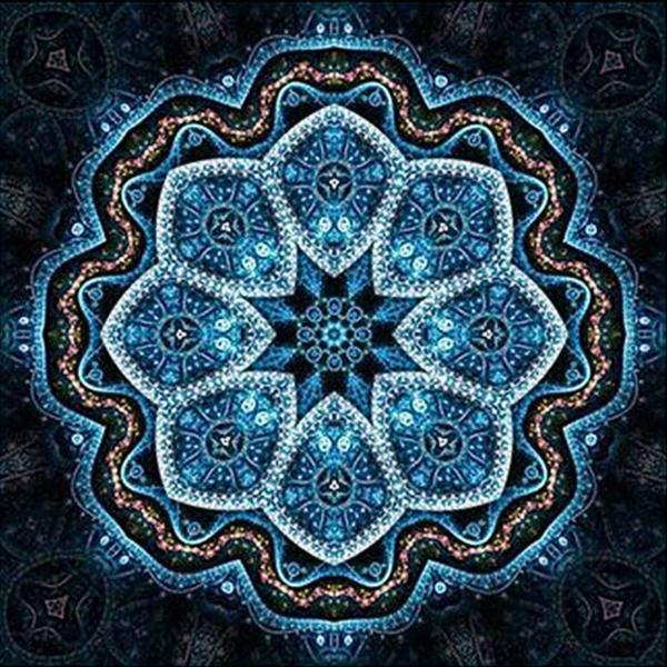 """7/31: Mosaic (Full drill - round diamonds) 10""""x10"""" (#332)"""