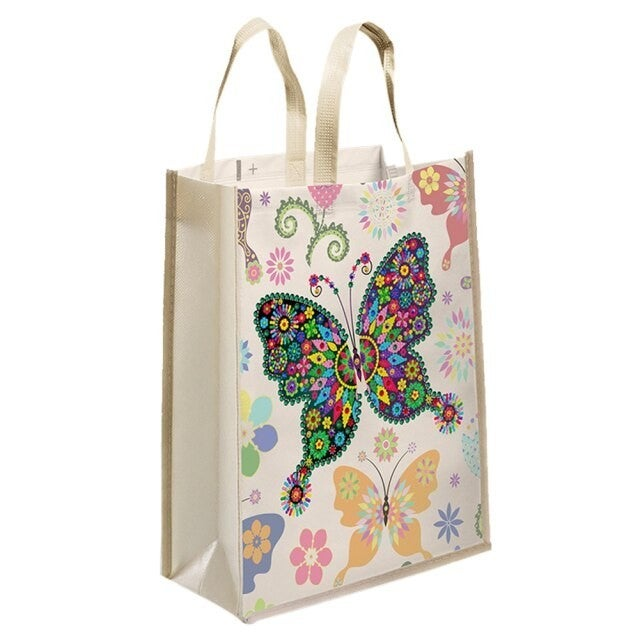 """4/20: Butterfly Tote Bag 11""""x13"""" (#798)"""
