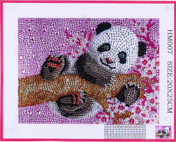 "9/12: Panda on Pink (Partial) 6""x8""(#654)"