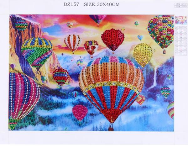 "9/14: Hot Air Balloons (Partial) 9.5""x11.5"" (#717)"