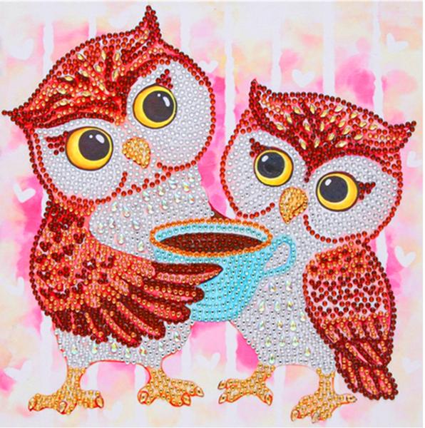 """9/21: Owl Coffee Hour (Partial) 9.5""""x9.5"""" (#1325)"""