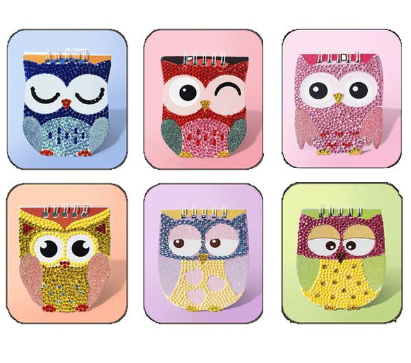 5/28C: Mini Owl Notebooks - Set of 6 (#815)