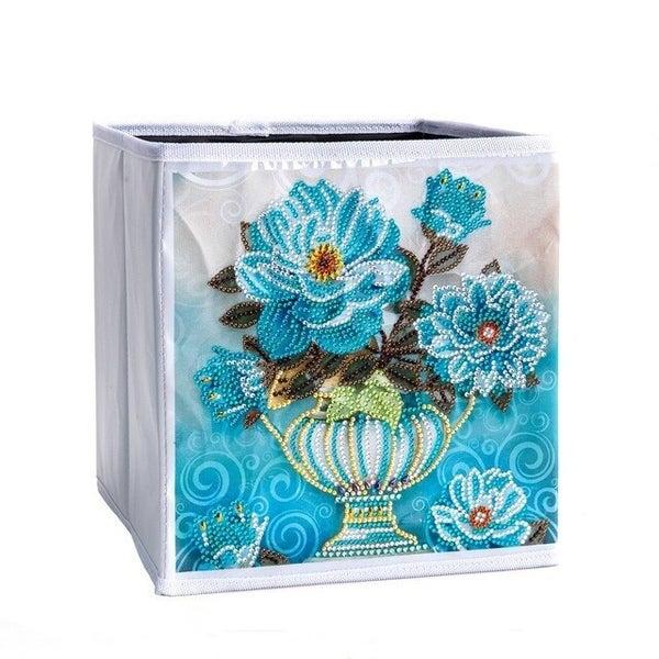 6/1: Organizer Storage Container Box - Blue Vase (#1200)