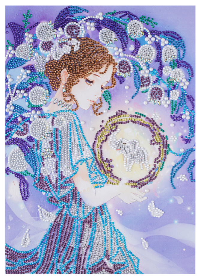 """9/12: Fairy on the Moon (Partial) 9.5""""x11.5"""" (#1566)"""