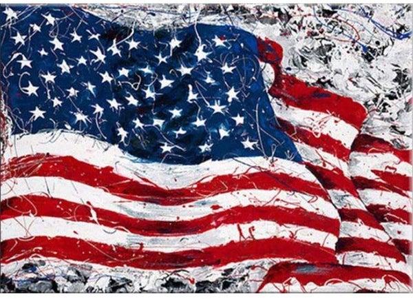 """9/23: Flag Painting (Full drill - round diamonds) 10""""x14"""" (#387)"""