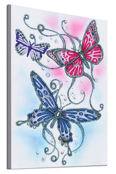 """9/7: Three Butterflies (Partial) 9.5""""x11.5"""" (#1708)"""