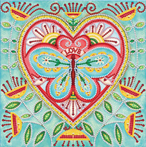 """DEAL OF THE DAY: Butterfly Heart Glow in Dark (Partial) 9.5""""x9.5"""" (#869)"""