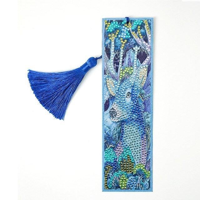 2/4: Blue Deer Bookmark (#824)