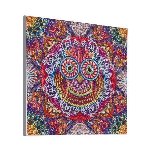 "9/16: Owl Mosaic (Partial) 9.5""x9.5"" (#1693)"