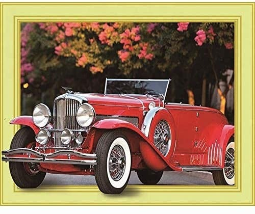 """9/14: Car (Full drill - Canvas Wrapped on Frame) 12.5""""x17.5"""" (#797)"""