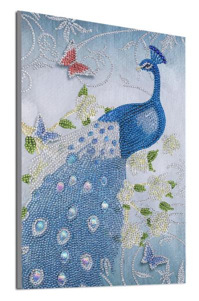 """9/19: Blue Peacock (Partial) 9.5""""x11.5"""" (#676)"""