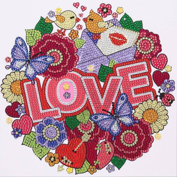 """Love Note (Partial) 9.5""""x9.5"""" (#1528)"""