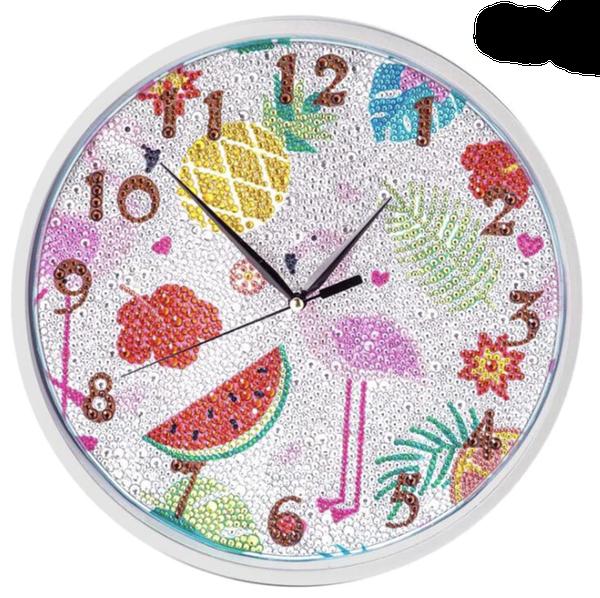 9/6: Flamingo Clock (#2)