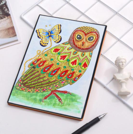 Pretty Owl Notebook (Blank) (#593)