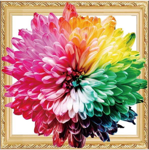 "8/15: Flower (Diamond Heavy Partial) 14""x14"" (512)"