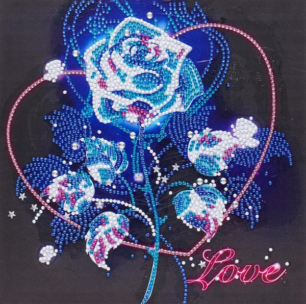"9/16: Love Roses (Partial) 9.5""x9.5"" (#9)"
