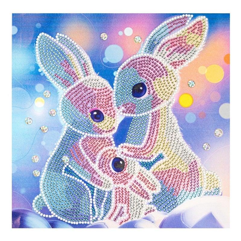 "9/23: Bunny Family (Partial) 9.5""x9.5"" (#1441)"