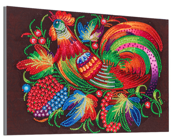 """8/31: Fancy Rooster (Partial) 9.5""""x11.5"""" (#1697)"""