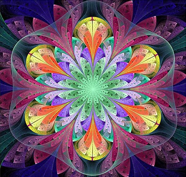 """7/17: Mosaic (Full drill - round diamonds) 8""""x8"""" (#528)"""