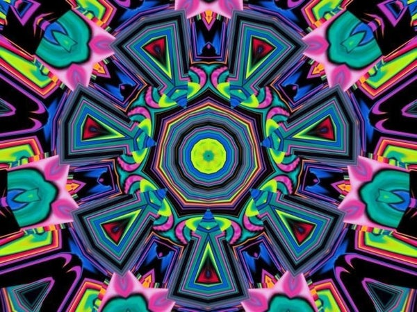 "Full drill - Square Diamonds - Rectangle Neon Mosaic - 16""x20"" (GF-1863)"