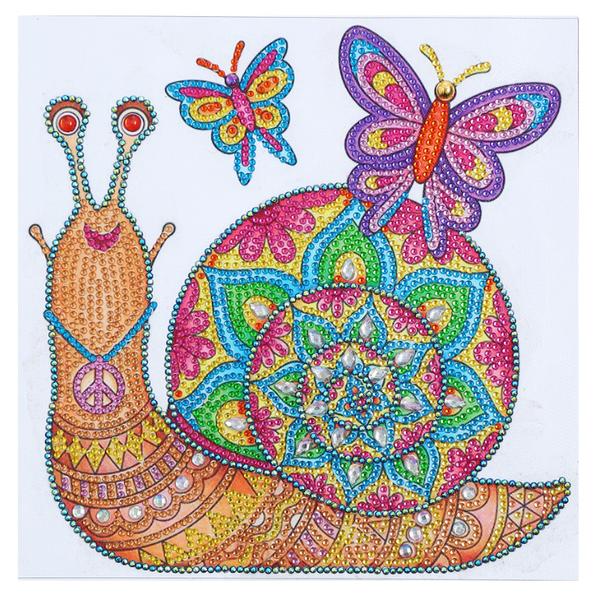 """8/31: Happy Snail (Partial) 9.5""""x9.5"""" (#1715)"""