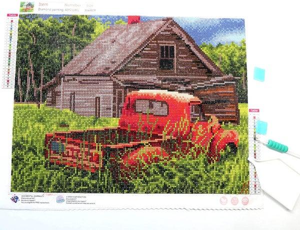 7/31: Red Truck (Full drill - SQUARE diamonds) (#467)