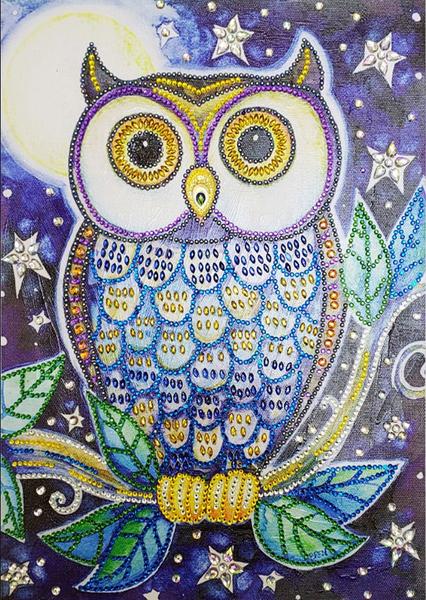 "9/19: Night Owl (Partial) 9.5""x11.5"" (#495)"