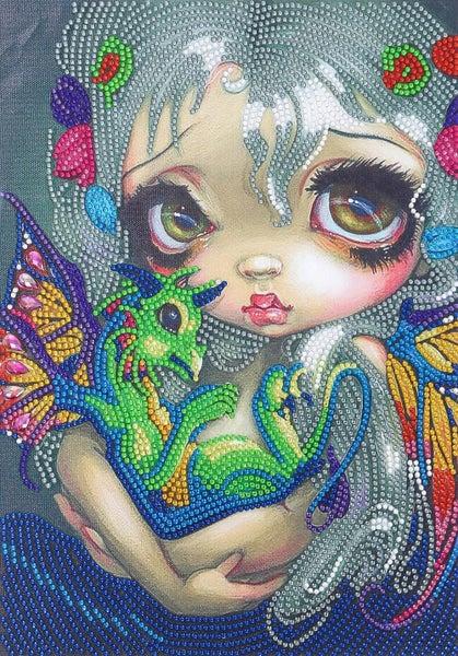 "9/16: Dragon Fairy (Partial) 9.5""x11.5"" (#401)"
