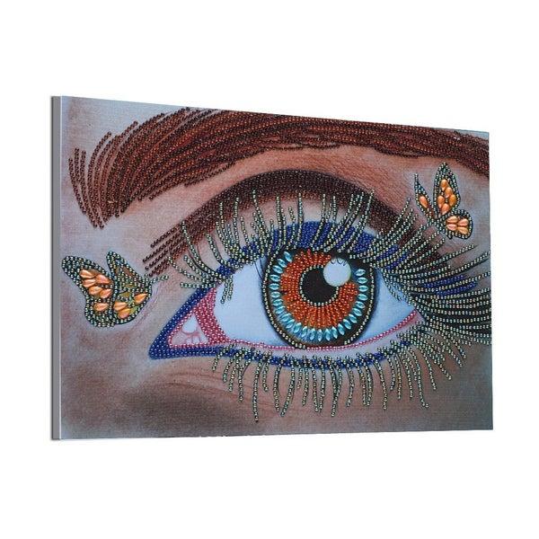 """9/16: Pretty Eye (Partial) 9.5""""x11.5"""" (#129)"""