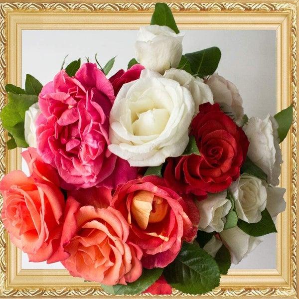 "9/14: Flower Bouquet (Diamond Heavy Partial) 13.5""x13.5"" (#AA4)"
