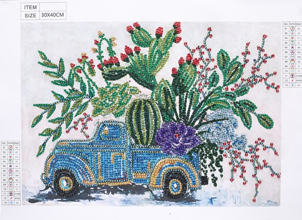 "9/19: Garden Truck (Partial) 9.5""x11.5"" (#1147)"