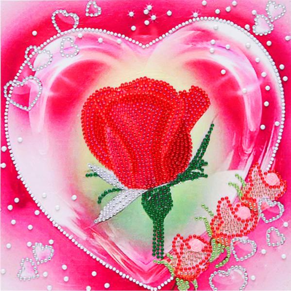 """9/23: Romantic Rose (Partial) 9.5""""x9.5"""" (#1300)"""