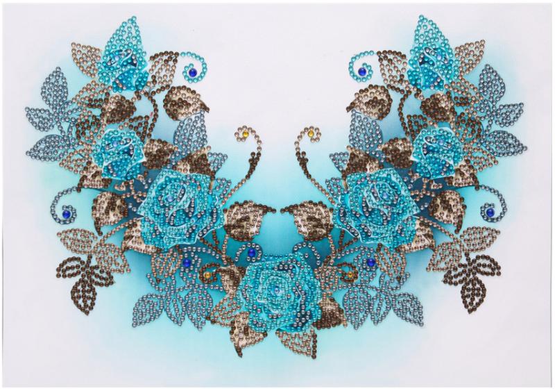 """9/12: Blue Flowers (Partial) 9.5""""x11.5"""" (#1472)"""