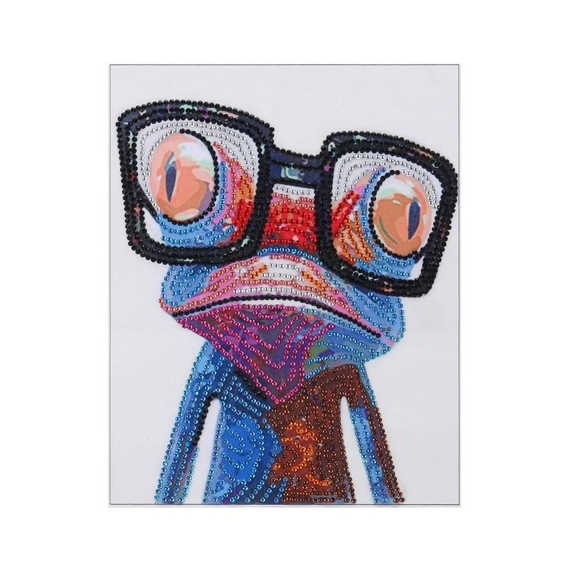 """9/12: Frog with Glasses (Partial) 9.5""""x7.5""""(#1224)"""