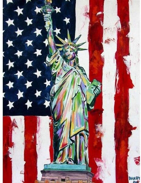 "8/7: Statue of Liberty (Full drill - round diamonds)  9.5""x11.5""(#US-H)"