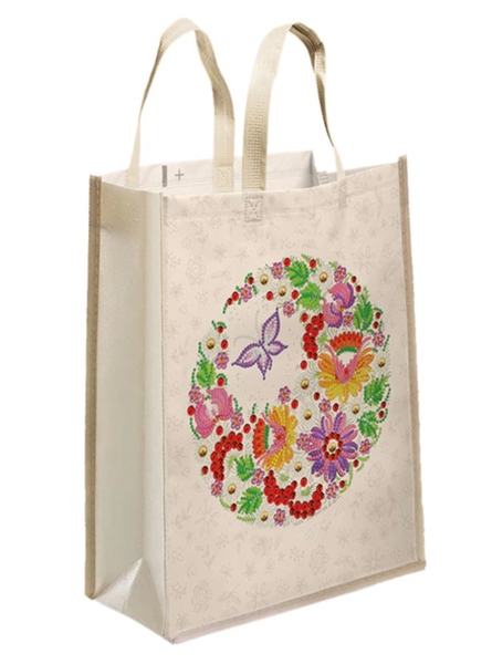 """9/21: Butterfly Garden Tote Bag 11""""x13"""" (#1479)"""