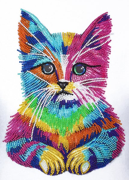 "9/7: Serious Cat (Partial) 9.5""x11.5"" (#312)"