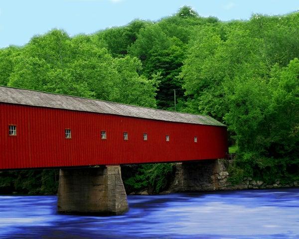 "6/5: Full drill - Square Diamonds - Red Bridge - 16""x20"" (GF-321)"
