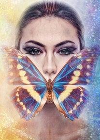 "5/1: Full drill - Square Diamonds - Butterfly Woman - 20""x28"" (GF-2867)"