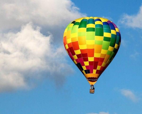 "Full drill - Square Diamonds - Floating Balloon - 16""x20"" (GF-1623)"