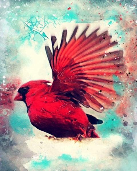 "6/5: Flying Cardinal (Full drill - round diamonds) 9.5""x13.5"" (#119)"