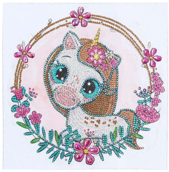 """8/24: Pretty Unicorn (Partial) 9.5""""x9.5"""" (#1714)"""