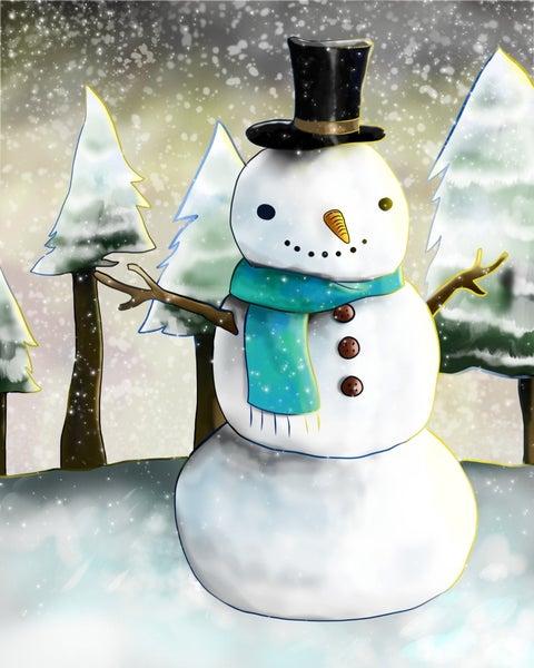 """Full drill - Square Diamonds - Cartoon Snowman - 16""""x20"""" (GF-2547)"""