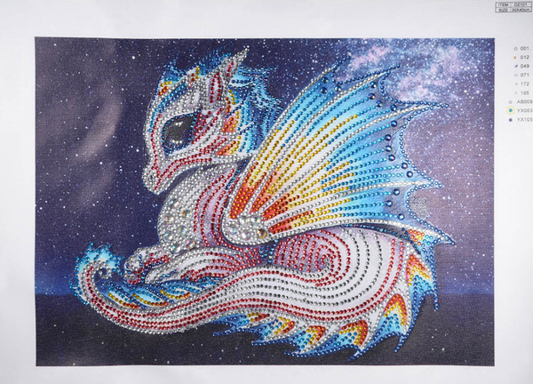 "9/12: Colorful Dragon (Partial) 9.5""x11.5"" (#919)"