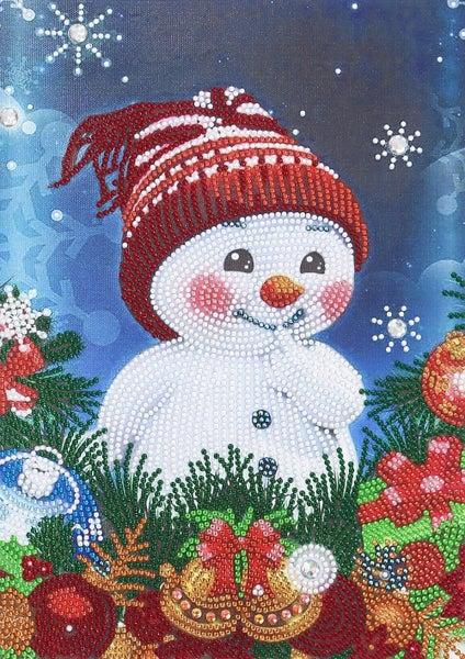 """9/5: Cute Snowman (Partial) 9.5""""x11.5"""" (#395)"""