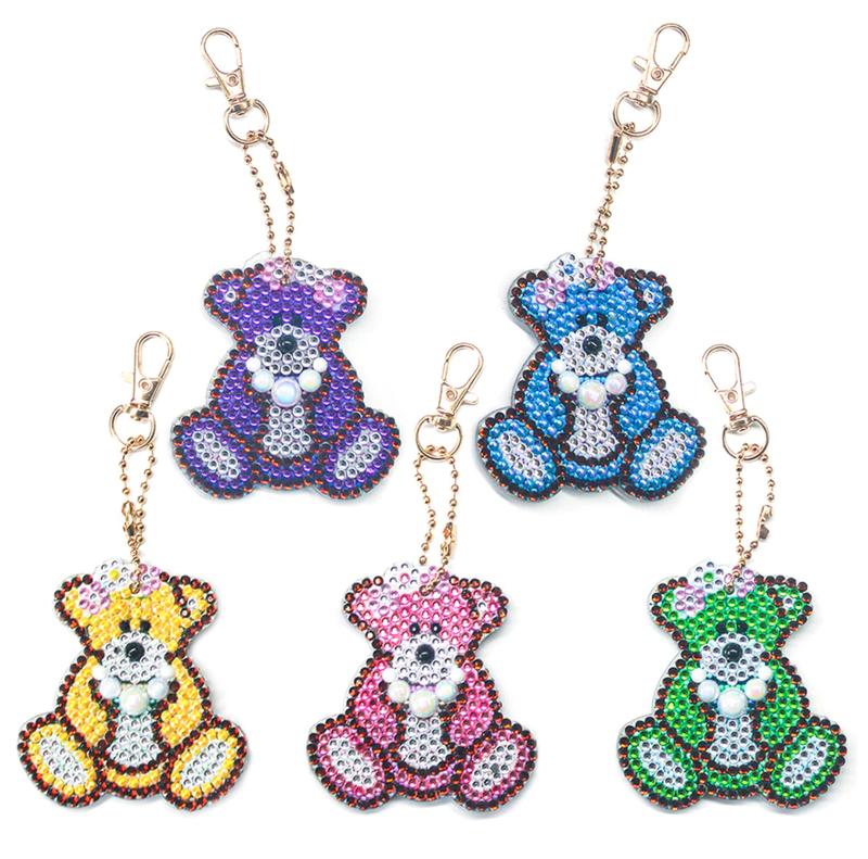 8/5: Teddy Bear Keychains - Set of 5 (#111)