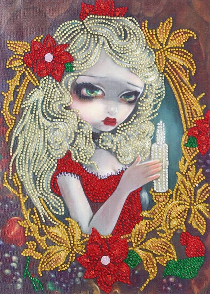 """9/12: Candle Fairy (Partial) 9.5""""x11.5"""" (#325)"""