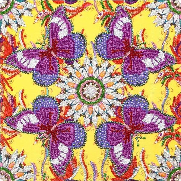 """9/12: Butterflies Mosaic (Partial) 9.5""""x9.5"""" (#1666)"""